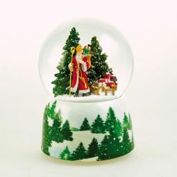 Spieluhr Schneekugel Nikolaus