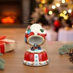 Porzellan Spieluhr Santa