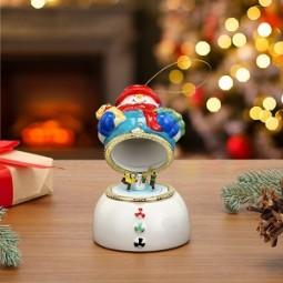 Porzellan Spieluhr – Schneemann