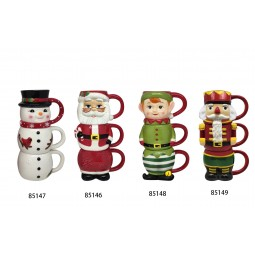 12oz Nostalgic Stacking Mug - Santa
