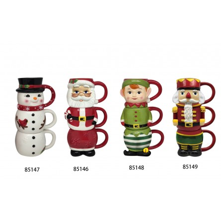 12oz Nostalgic Stacking Mug - Santa