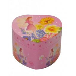 Spieldose Schmuckherz Blumenfee