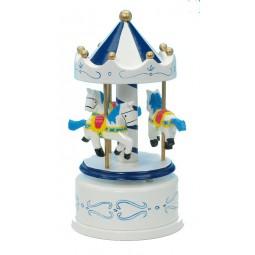 Holzkarussell blau/weiß 170 mm