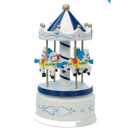 Holzkarussell blau/weiß 210 mm