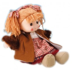 Puppe braune Jacke