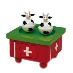 Spieluhr Schweizer Tanzkühe