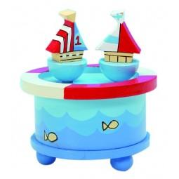 Spieluhr Tanzende Segelschiffe