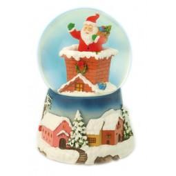 Kugel Santa im Schornstein