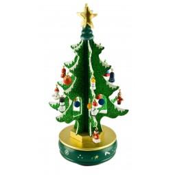 6er Baum grün mit Glitter 260 mm