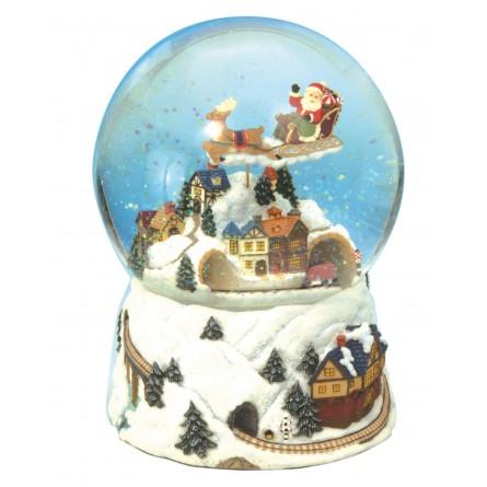 Schneekugel Weihnachtszug