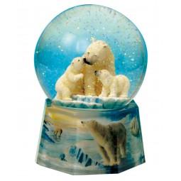 Schneekugel Eisbären