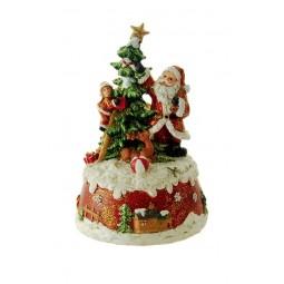 Spieluhr Schmückender Weihnachtsmann