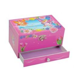 Spieluhr Schmuckbox Blumenelfen