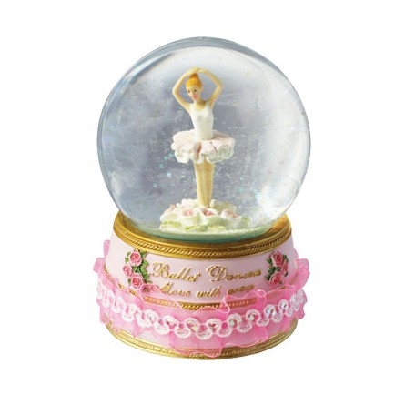 Glitzerkugel mit Ballerina