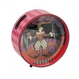 Spieluhr Sparbüchse mit tanzendem Clown