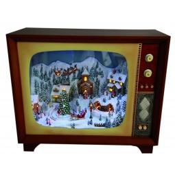 Spieluhr Fernseher mit winterlicher Szene