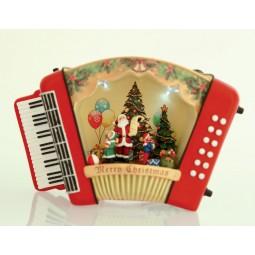 Akkordeon mit Weihnachtsmann