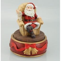 Spieluhr Santa im Sessel