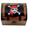 Schatztruhe mit Piratenmotiv