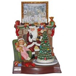 Spieluhr Santa im Weihnachtszimmer
