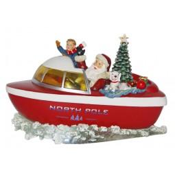 Spieluhr Santa´s Motorboot