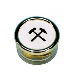Spieluhr Briefbeschwerer mit Schlägel u. Eisen