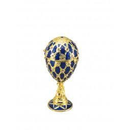 Schmuckei im Stil Fabergés blau