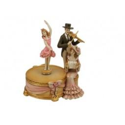Spieluhr Musiker mit Tänzerin