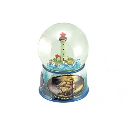 Glitzerkugel Leuchtturm