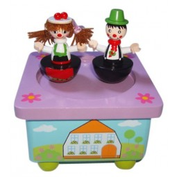 Holzspieluhr Trachtenpaar