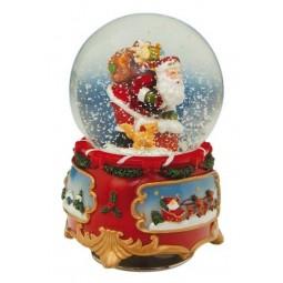 Spieluhr Schneekugel Santa 80 mm