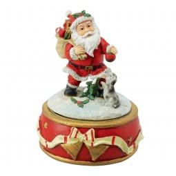 Spieluhr Santa mit Hund