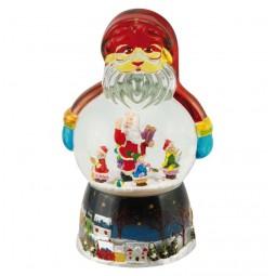 Spieluhr Weihnachtsmann Schneekugel