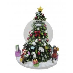 Spieluhr Schneekugel Weihnachtsbaum