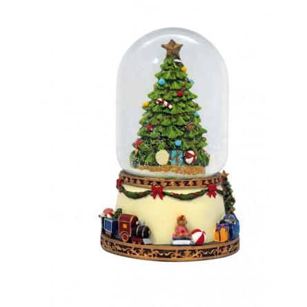 Spieluhr Schneedom geschmückter Tannenbaum