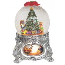 Schneekugel Weihnachtsbaum