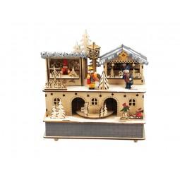 Holzspieluhr Weihnachtsmarkt