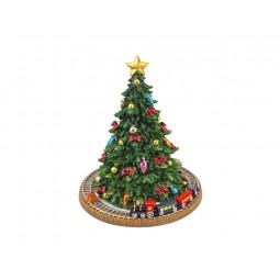 Spieluhr Weihnachtsbaum mit Eisenbahn